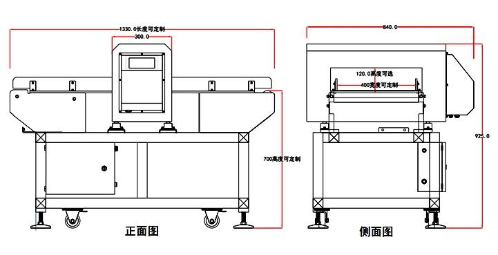 金属检测机设计图纸